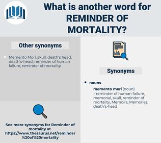 reminder of mortality, synonym reminder of mortality, another word for reminder of mortality, words like reminder of mortality, thesaurus reminder of mortality