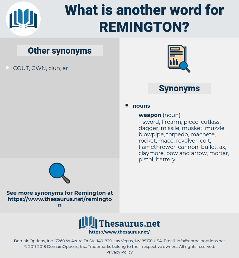 Remington, synonym Remington, another word for Remington, words like Remington, thesaurus Remington