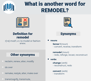 remodel, synonym remodel, another word for remodel, words like remodel, thesaurus remodel