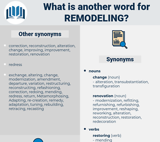 remodeling, synonym remodeling, another word for remodeling, words like remodeling, thesaurus remodeling