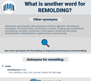 remolding, synonym remolding, another word for remolding, words like remolding, thesaurus remolding