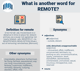 remote, synonym remote, another word for remote, words like remote, thesaurus remote