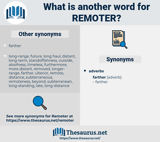 remoter, synonym remoter, another word for remoter, words like remoter, thesaurus remoter
