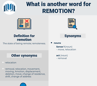 remotion, synonym remotion, another word for remotion, words like remotion, thesaurus remotion