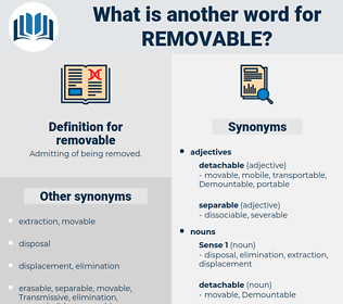 removable, synonym removable, another word for removable, words like removable, thesaurus removable