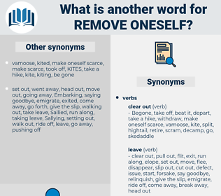 remove oneself, synonym remove oneself, another word for remove oneself, words like remove oneself, thesaurus remove oneself