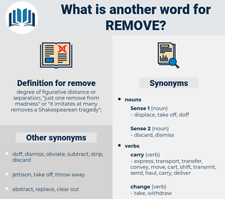 remove, synonym remove, another word for remove, words like remove, thesaurus remove
