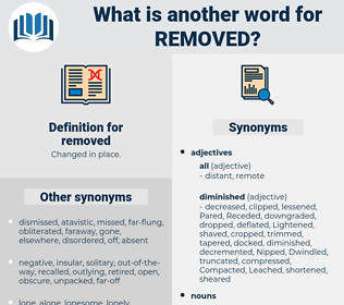 removed, synonym removed, another word for removed, words like removed, thesaurus removed
