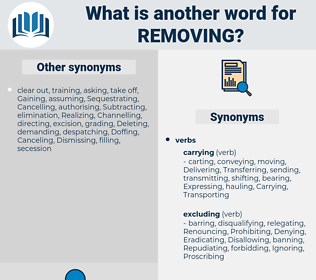 Removing, synonym Removing, another word for Removing, words like Removing, thesaurus Removing