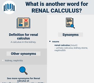 renal calculus, synonym renal calculus, another word for renal calculus, words like renal calculus, thesaurus renal calculus