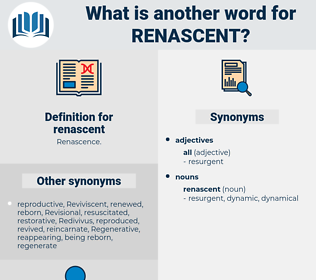 renascent, synonym renascent, another word for renascent, words like renascent, thesaurus renascent