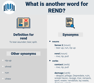 rend, synonym rend, another word for rend, words like rend, thesaurus rend