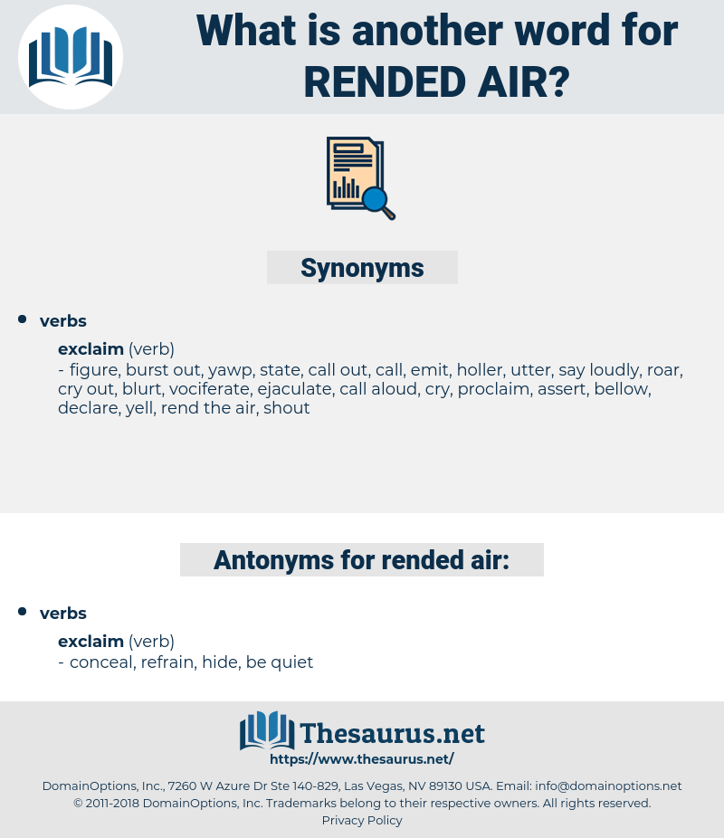 rended air, synonym rended air, another word for rended air, words like rended air, thesaurus rended air