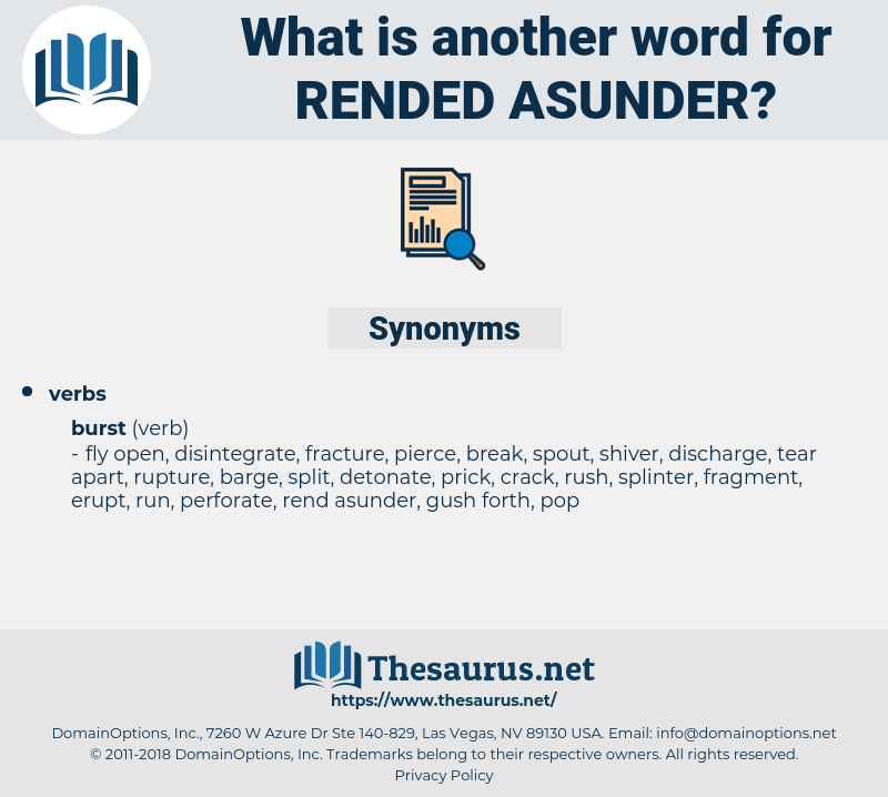 rended asunder, synonym rended asunder, another word for rended asunder, words like rended asunder, thesaurus rended asunder