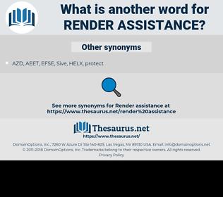 render assistance, synonym render assistance, another word for render assistance, words like render assistance, thesaurus render assistance