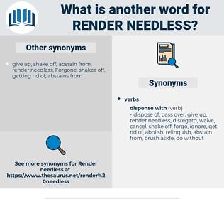 render needless, synonym render needless, another word for render needless, words like render needless, thesaurus render needless