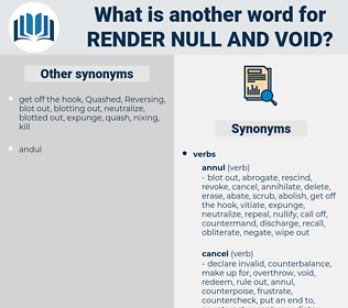 render null and void, synonym render null and void, another word for render null and void, words like render null and void, thesaurus render null and void