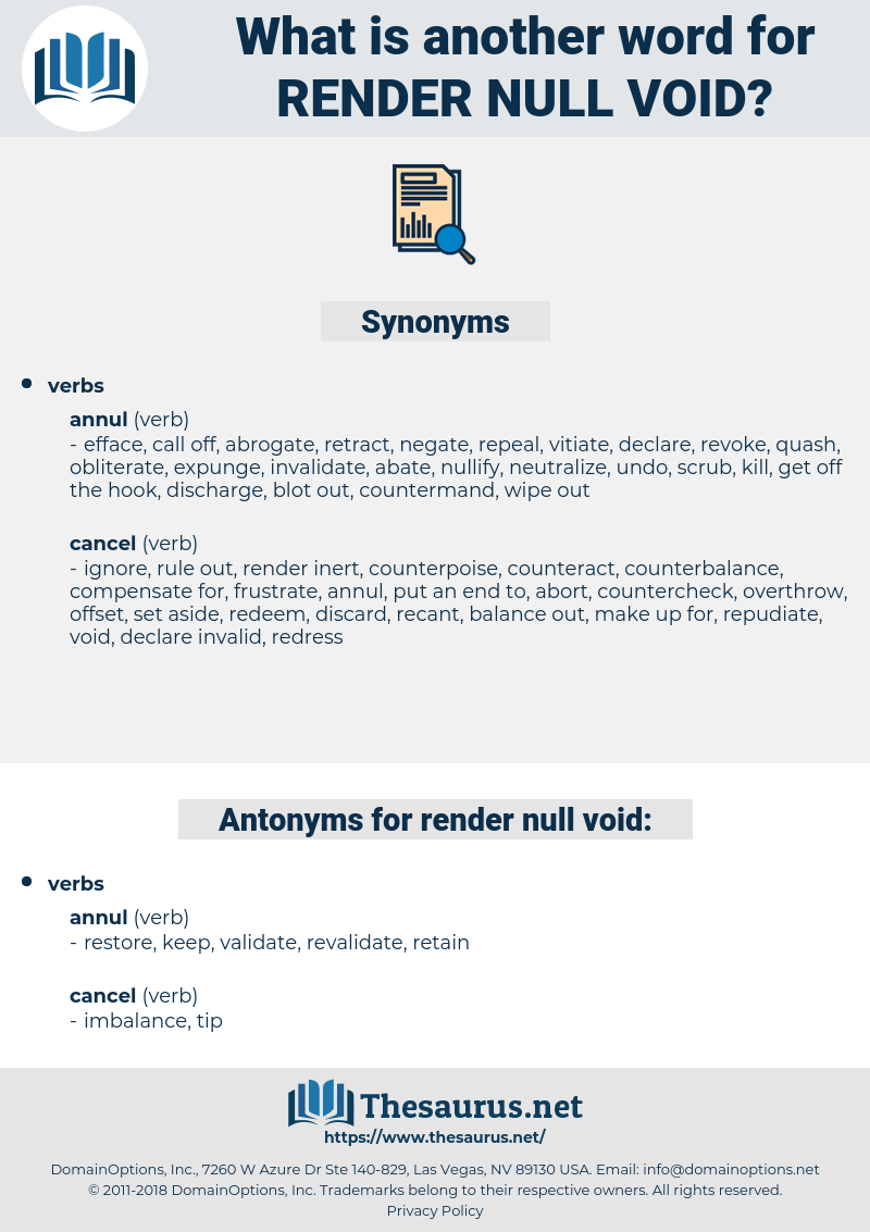 render null void, synonym render null void, another word for render null void, words like render null void, thesaurus render null void