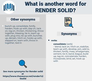 render solid, synonym render solid, another word for render solid, words like render solid, thesaurus render solid