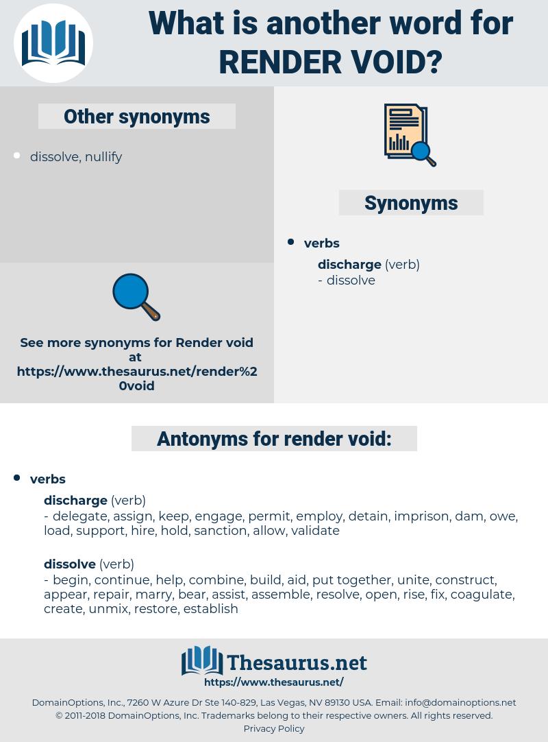 render void, synonym render void, another word for render void, words like render void, thesaurus render void