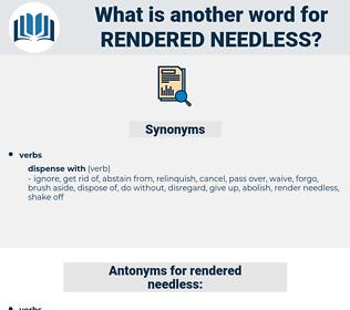 rendered needless, synonym rendered needless, another word for rendered needless, words like rendered needless, thesaurus rendered needless