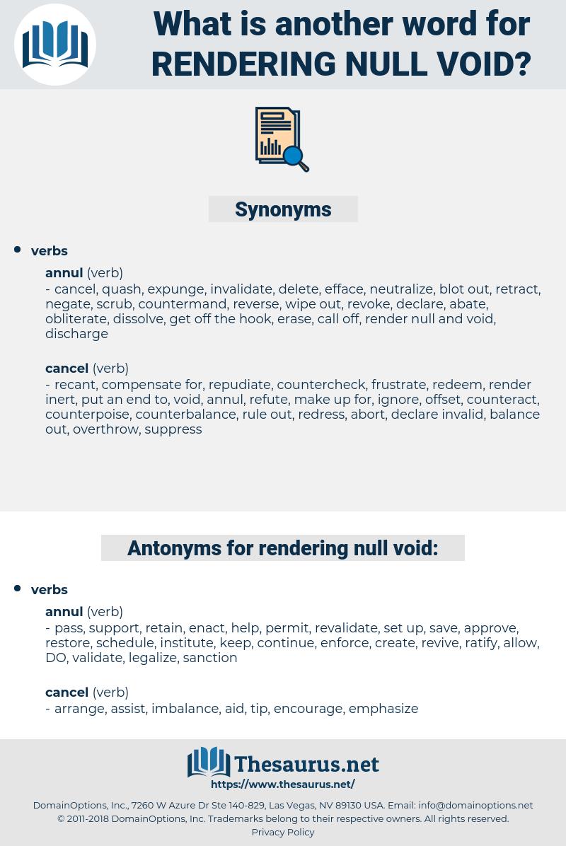 rendering null void, synonym rendering null void, another word for rendering null void, words like rendering null void, thesaurus rendering null void