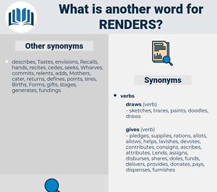 renders, synonym renders, another word for renders, words like renders, thesaurus renders