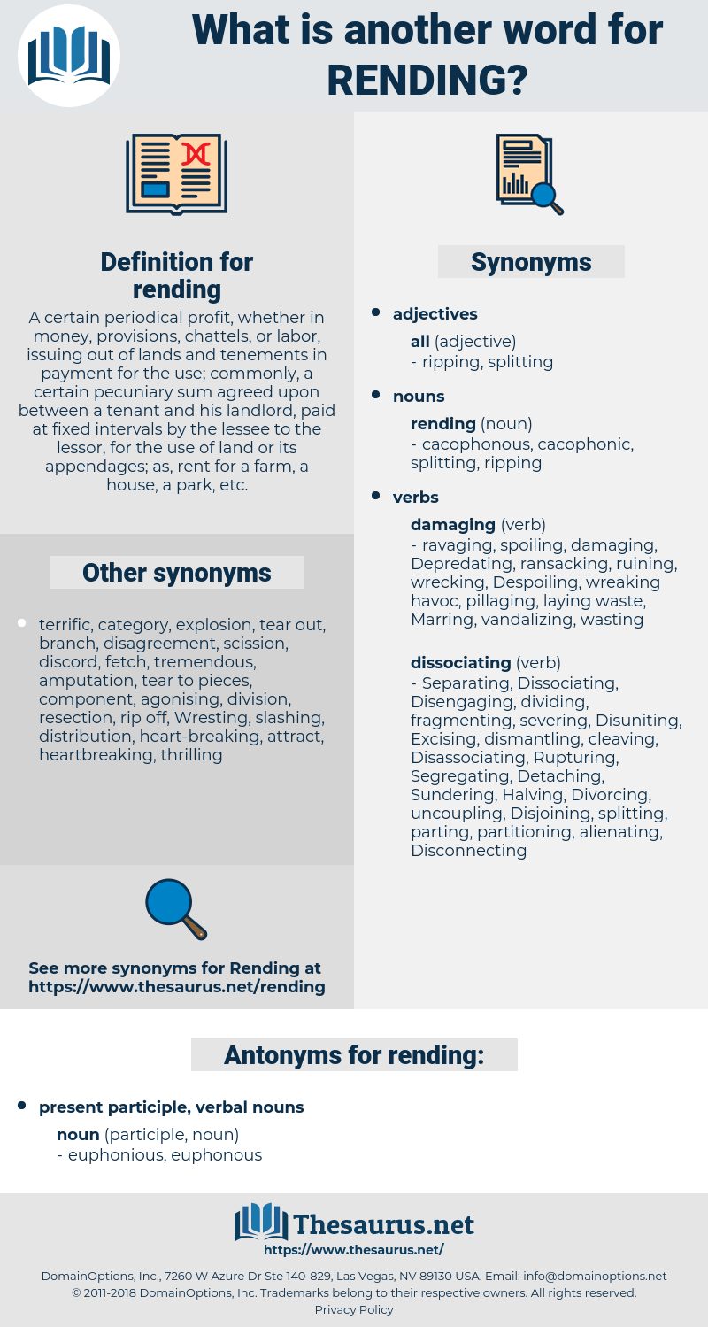 rending, synonym rending, another word for rending, words like rending, thesaurus rending