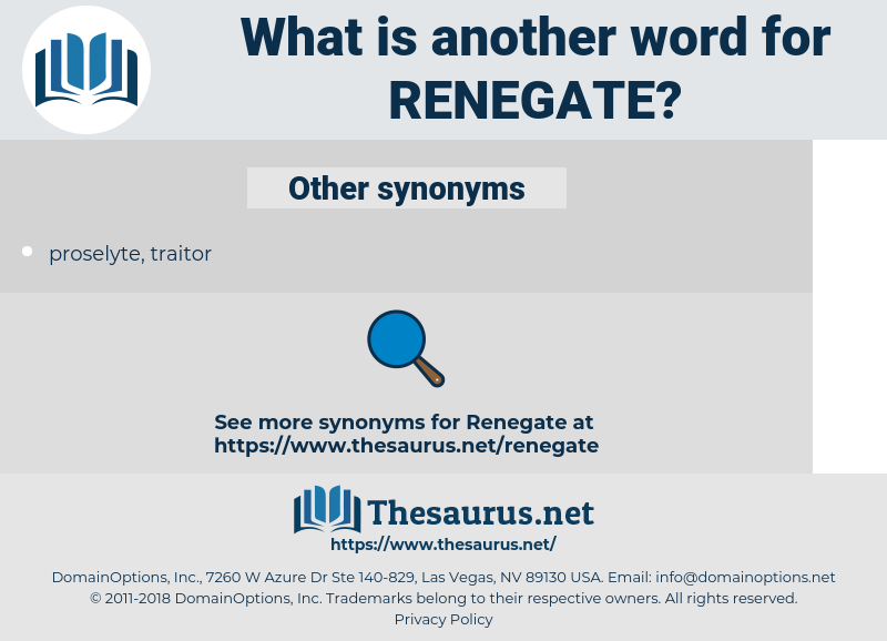 renegate, synonym renegate, another word for renegate, words like renegate, thesaurus renegate