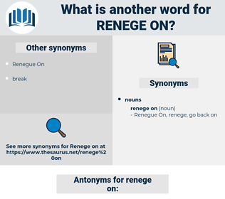 renege on, synonym renege on, another word for renege on, words like renege on, thesaurus renege on