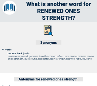 renewed ones strength, synonym renewed ones strength, another word for renewed ones strength, words like renewed ones strength, thesaurus renewed ones strength