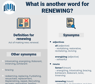 renewing, synonym renewing, another word for renewing, words like renewing, thesaurus renewing