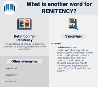 Renitency, synonym Renitency, another word for Renitency, words like Renitency, thesaurus Renitency