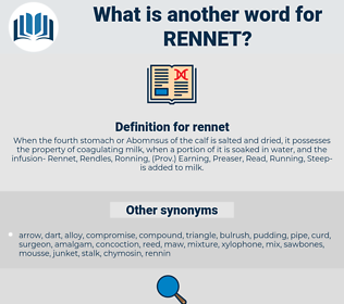 rennet, synonym rennet, another word for rennet, words like rennet, thesaurus rennet