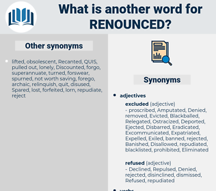 Renounced, synonym Renounced, another word for Renounced, words like Renounced, thesaurus Renounced