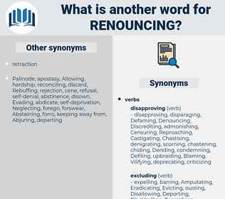 Renouncing, synonym Renouncing, another word for Renouncing, words like Renouncing, thesaurus Renouncing