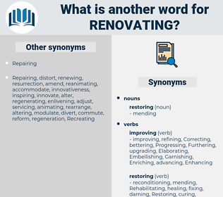 renovating, synonym renovating, another word for renovating, words like renovating, thesaurus renovating