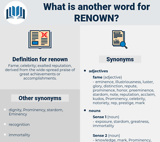 renown, synonym renown, another word for renown, words like renown, thesaurus renown