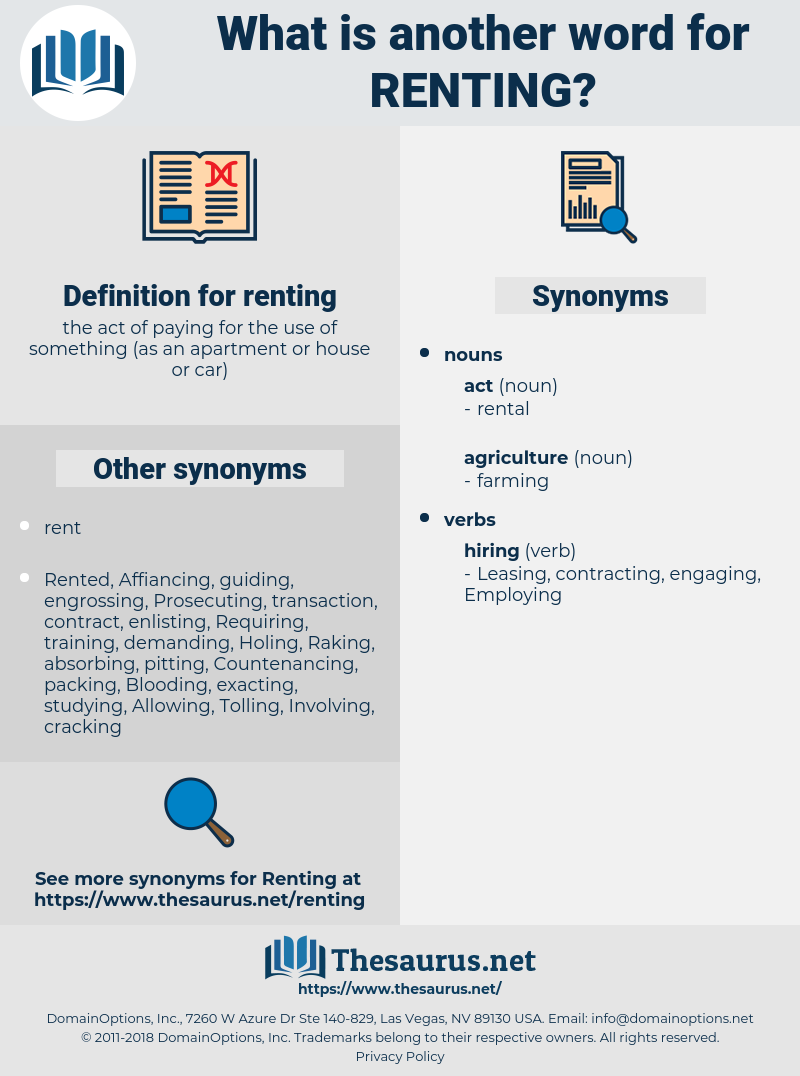 renting, synonym renting, another word for renting, words like renting, thesaurus renting