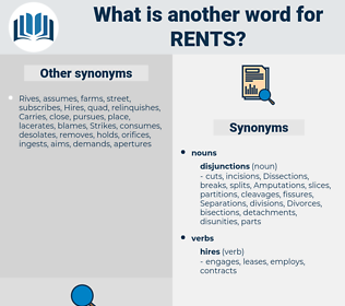 rents, synonym rents, another word for rents, words like rents, thesaurus rents