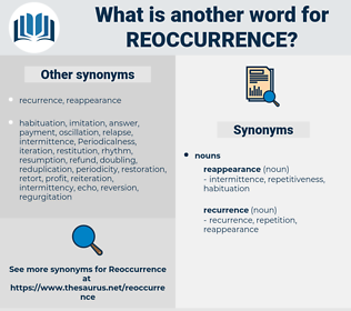 reoccurrence, synonym reoccurrence, another word for reoccurrence, words like reoccurrence, thesaurus reoccurrence