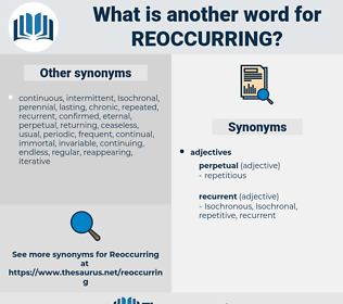 reoccurring, synonym reoccurring, another word for reoccurring, words like reoccurring, thesaurus reoccurring