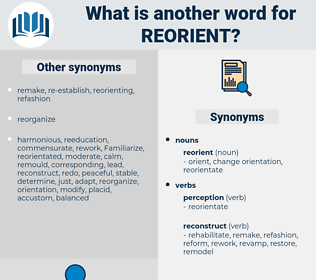 reorient, synonym reorient, another word for reorient, words like reorient, thesaurus reorient