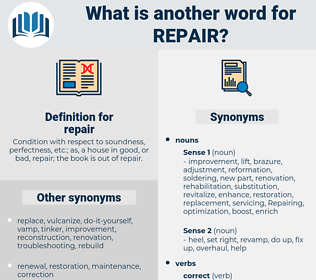 repair, synonym repair, another word for repair, words like repair, thesaurus repair