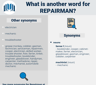repairman, synonym repairman, another word for repairman, words like repairman, thesaurus repairman