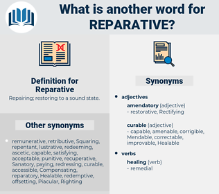 Reparative, synonym Reparative, another word for Reparative, words like Reparative, thesaurus Reparative