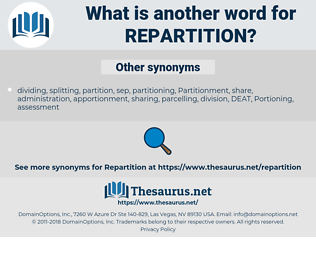 repartition, synonym repartition, another word for repartition, words like repartition, thesaurus repartition