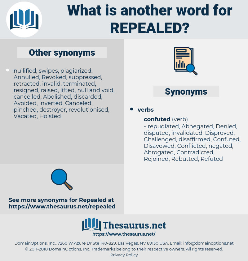 Repealed, synonym Repealed, another word for Repealed, words like Repealed, thesaurus Repealed
