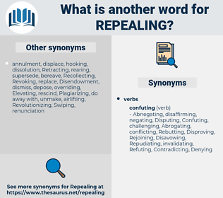 Repealing, synonym Repealing, another word for Repealing, words like Repealing, thesaurus Repealing