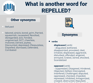 Repelled, synonym Repelled, another word for Repelled, words like Repelled, thesaurus Repelled